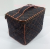 กระเป๋าเครื่องสำอางค์ นารายา ผ้าเดนิม สียีนส์เข้ม ขอบส้ม ทรงสี่เหลี่ยม (กระเป๋านารายา กระเป๋าผ้า NaRaYa)