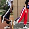 [Preorder] กางเกงขายาวมีซิปผ่าเปิดข้างโชว์ขา มีสีดำ/แดง