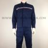 รหัส 4.5 (ชุดช่างแบบ TOT (เสื้อพร้อมกางเกง) สีกรมท่า เสื้อและกางเกงติดสะท้อนแสง)