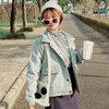 [พร้อมส่ง] เสื้อแจ็คเก็ตน่ารักสไตล์เกาหลี มีสีเขียว/กากี/เทา/ชมพู