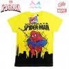 ฮ (ไซส์ 4) เสื้อยืดเด็กผู้ชาย แขนสั้น สีเหลือง สกรีนลาย Spiderman สุดเท่ห์ ใส่สบาย ลิขสิทธิ์แท้ (สำหรับเด็กอายุ 2-4 ปี)