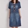 (Pre-Order) ชุดกระโปรงยีนส์ เดรสยีนส์นิ่ม แฟชั่นยีนส์สวย ๆ จากเกาหลี