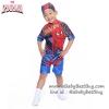 ( สำหรับเด็กอายุ 6เดือน-14 ปี ) Swimsuit for Boys ชุดว่ายน้ำ เด็กผู้ชาย Spiderman บอดี้สูท กางเกงขาสั้น มาพร้อมหมวกว่ายน้ำและถุงผ้า สุดเท่ห์ ใส่สบาย ลิขสิทธิ์แท้