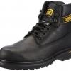 รองเท้า หัวเหล็ก Caterpillar Holton Mens Boots Black Size 40 - 45