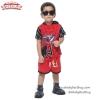 ( S-M-L-XL ) ชุดแฟนซีสั้น เด็กผู้ชาย Super Hero Spiderman เสมือนจริง มีหมวก(ฮู้ด) ชุดสุดเท่ห์ ใส่สบาย ลิขสิทธิ์แท้ (สำหรับเด็ก 2-5 ปี)