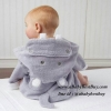 z เสื้อคลุมอาบน้ำเด็กเล็ก เสื้อคลุมว่ายน้ำเด็กเล็ก ลายฮิปโป สำหรับเด็กเล็ก ตั้งแต่แรกเกิด - 2ขวบ