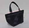 กระเป๋าถือ นารายา Size S ผ้าซาตินมัน สีดำ ผูกโบว์ด้านหน้า (กระเป๋านารายา กระเป๋า NaRaYa กระเป๋าผ้า)