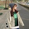 [พร้อมส่ง] เสื้อแจ็คเก็ตน่ารักสไตล์เกาหลี มีสีกากี/เทา/ชมพู/เขียว