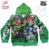 ฮ ( S-M-L-XL ) เสื้อแจ็คเก็ต เสื้อกันหนาว เด็กผู้ชาย เสื้อกันหนาวเด็ก Super Hero The Avengers สีเขียว รูดซิป มีหมวก(ฮู้ด) ใส่คลุมกันหนาว กันแดด สุดเท่ห์ ใส่สบาย ลิขสิทธิ์แท้ (ไซส์ S-M-L-XL )
