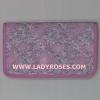 กระเป๋าสตางค์ นารายา ผ้าคอตตอน สีชมพู ลายดอกชบา สีขาว ( กระเป๋านารายา กระเป๋าผ้า NaRaYa )