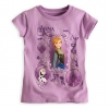 zTee Anna and Olaf for Girls - Frozen ( Lavender Size4 )