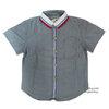( 1-2-3 ) เสื้อเชิ้ตแขนสั้นสีเทา แฟชั่น เด็กผู้ชาย สุดเท่ห์ ใส่สบาย (Size 1-2-3)