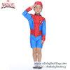 (size M)ชุดว่ายน้ำเด็กผู้ชาย Spiderman สีน้ำเงิน บอดี้สูทเสื้อแขนยาวกางเกงขาสั้นสกรีนลายเกราะ Spiderman มาพร้อมหมวกว่ายน้ำและถุงผ้า สุดเท่ห์ ใส่สบาย ลิขสิทธิ์แท้ (สำหรับเด็กอายุ 5-6ปี)