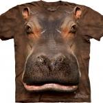 Pre.เสื้อยืดพิมพ์ลาย3D The Mountain T-shirt : Hippo Head