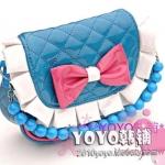 กระเป๋าสาวน้อย สีฟ้า