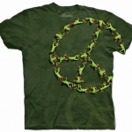Pre.เสื้อยืดพิมพ์ลาย3D The Mountain T-shirt : Organic Peace Frog MD