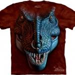 เสื้อยืดพิมพ์ลาย3D The Mountain T-shirt : T-Rex Face