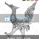 ไฟล์เวกเตอร์ ลายไทย สัตว์หิมพานต์ หงส์ไทย (Ai, EPS, CDR)