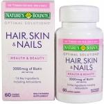 **พร้อมส่งค่ะ** Nature's Bounty Hair,Skin&Nails 3000mcg ( 60 เม็ด)