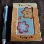 flower power playing card