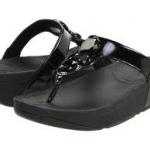 รองเท้า Fitflob Lunetta Black เพชร 4 เม็ด สีดำ No.FF077