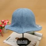 Pre-order หมวกยีนส์ปีกกว้าง หมวกเกาหลีแท้ หมวกฤดูร้อน กันแดด กันแสงยูวี สียีนส์ฟอก