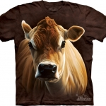 Pre.เสื้อยืดพิมพ์ลาย3D The Mountain T-shirt : How Now Brown Cow