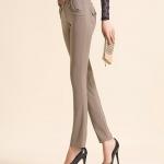 พรีออเดอร์ กางเกงทำงาน กางเกงลำลอง กางเกงแฟชั่นเกาหลี BIG SIZE สีกากี