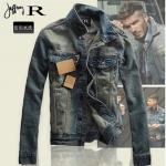 Pre-Order Jonnyrman เสื้อแจ็คเก็ตยีนส์โทนสีน้ำเงินเข้ม สไตล์เรโทร แบบเท่ ๆ สำหรับหนุ่มมาดเซอร์