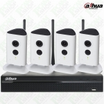 Dahua WiFi Kit NVR4104HS-W-S2, IPC-C35x4, WD Purple Surveillance Hard Drives 1TB