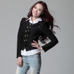 พรีออเดอร์ เสื้อสูทแฟชั่นสไตล์เกาหลี เสื้อสูทวัยรุ่น สูทสั่้น สีดำ