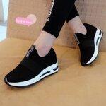 รองเท้าผ้าใบมัฟฟินเข้านำ สไตล์เกาหลี เสริมส้น1.5นิ้วเสริมภายใน 1นิ้ว
