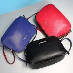 Pre-order กระเป๋าสะพายผู้หญิง หนังแท้ สไตล์ยุโรป-อเมริกา แฟชั่นมาใหม่ปี 2016 มี 3 สี ฟ้า แดง ดำ