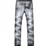 Pre-Order กางเกงยีนส์ ขายาว ขาตรง ยีนส์ฟอก สีเทาดำ กางเกงลำลอง หนุ่มมาดเข็ม แฟชั่นกางเกงยีนส์เกาหลี
