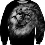 Pre-Order เสื้อยืดพิมพ์ลาย MR.GUGU & Miss GO : BLACK LION SWEATER