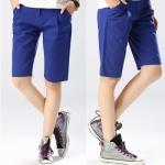 Pre-Order กางเกงขาสั้น ผ้าฝ้ายสีฟ้า แฟชั่นฤดูร้อนสไตล์เกาหลีปี 2015