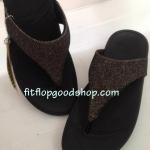 รองเท้า Fitflob Astrid Sandal หูหนีบเกล็ดเพชร สีน้ำตาล No.FF249