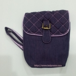 กระเป๋าสะพาย นารายา ผ้าเดนิม สียีนส์-ม่วง (กระเป๋านารายา กระเป๋าผ้า NaRaYa กระเป๋าแฟชั่น)