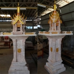 ศาลพระภูมิทรงปราสาท ขนาด ฐานกว้าง 126 ซม ยาว 126 ซม (สั่งเติมสีที่ตัวปราสาทพิเศษ)