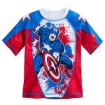 Captain America Rash Guard for Boys from Disney USA ของแท้100% นำเข้า จากอเมริกา