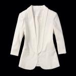Pre-Order เสื้อสูทผู้หญิง สาวสไตล์ยุโรป แขนสามมิติ สีขาว งานฝือระดับไฮเอนด์