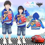 """"""" ( Size S-M-L """" เสื้อแจ็คเก็ต Jacket Disney Cars เสื้อกันหนาว เด็กผู้ชาย สกรีนลาย คาร์ น้ำเงิน รูดซิป มีหมวก(ฮู้ด)สีน้ำเงิน ใส่คลุมกันหนาว กันแดด ใส่สบาย ดิสนีย์แท้ ลิขสิทธิ์แท้"""