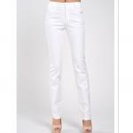 (Pre-Order) กางเกงทำงานยีนส์สี กางเกงลำลอง ทรงขากระบอกเล็กขาตรง สีขาว
