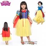 """"""" ชุดเดรส ชุดแฟนซี Princess Snow White เจ้าหญิงสโนไวท์ + ผ้าคลุม(ถอดได้) ชุดแฟนซีเจ้าหญิง ผ้าดี ใส่สบาย"""