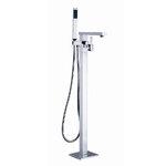 [B11] ก๊อกน้ำตั้งพื้นสีเงิน ก็อกน้ำ ฝักบัว ฝักบัวอาบน้ำ ชุดฝักบัวอาบน้ำ เครื่องสุขภัณฑ์ อุปกรณ์ห้องน้ำ อุปกรณ์ตกแต่งห้องน้ำ ตกแต่งห้องน้ำ ตกแต่งบ้าน Handheld Shower Head Freestanding Bathtub Faucet