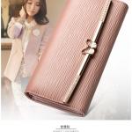 Pre-Order กระเป๋าสตางค์ผู้หญิง ใบยาว 3 พับ กระเป๋าสตางค์แฟชั่นสไตล์เกาหลี JUNLAN