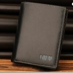 Pre-order กระเป๋าสตางค์ผู้ชาย กระเป๋าถือแฟชั่น หนังแท้ แบบมัลติฟังค์ชั่นหลายช่อง หรูหรา สุดเท่ แบบแนวตั้ง สีดำ