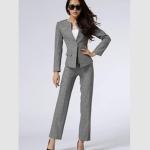 Pre-order ชุดสูทผู้หญิงกางเกงขายาว เสื้อแขนยาว สูทบาง ฝีมือตัดเย็บระดับ High -end เสื้อผ้าแฟชั่นสไตล์เกาหลี สีเทา