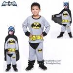 ' ( 4-6-8-10 ปี ) ชุดแฟนซี เด็กผู้ชาย แบทแมน Bat Man เสมือนจริง สีเทา มาพร้อมกับเสื้อ กางเกง หน้ากาก เพื่อให้คุณหนูๆได้สนุกกับชุดsuper hero คนโปรดตามจิตนาการ ชุดสุดเท่ห์ ใส่สบาย ลิขสิทธิ์แท้ (XS,S,M,L,XL)