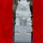 สิงโตหินอ่อนแกะสลัก ความสูง 200เซนติเมตร